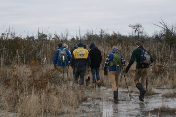 MUHS students exploring the Cedarburg Bog