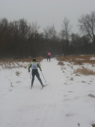 Langlauf XC ski race on the Schoofs Preserve. Run by the HH Ski Club