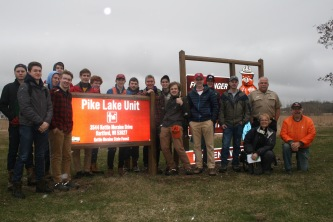 Park Rangers, MUHS Students, and WI Geocaching Association