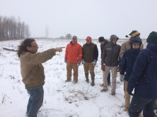 Jim Urinak of the Milwaukee Audubon Society teaching about the ecology of the area