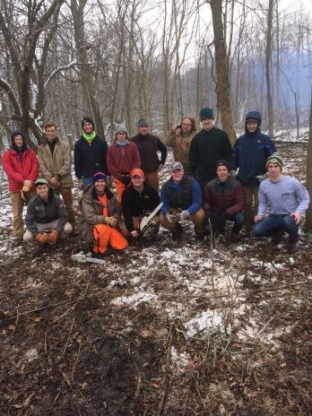 Milwaukee Audubon Society and MUHS students working at the Kolterman Prairie