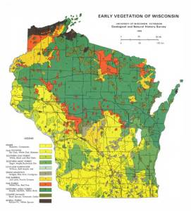 WGNHS-Early-Vegetation-of-Wisconsin-Map-1965-M035