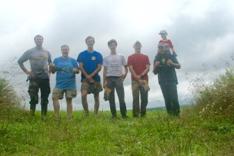 The woodland crew: Quentin, Charlie, Steven, Jack, Will, Kelly, and Joe