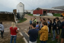 Removing runoff water before nutrients are picked up from feed bins and end up in the Milwaukee River