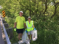 Volunteers at our Adopt-a-highway cleanup