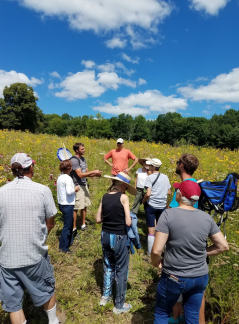 Joe Meyer leads a prairie hike at HH ski club