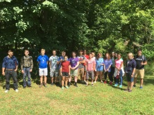 Chesterton Academy students on retreat and ready to take a faith and ecology hike with Laudato Si' Project