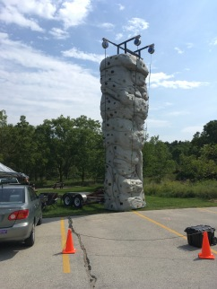 Adventure rock climbing wall