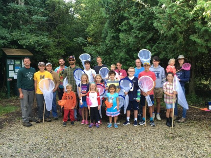 Our butterfly catching crew at the Schoofs Preserve