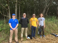 Our MUHS boys helping with the woodland restoration